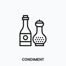 Condiment Icon Vector. Condiment Icon Vector Symbol Illustration. Modern Simple Vector Icon For Your Design. Condiment Icon Vector