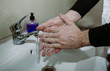 Man washing hands carefully with soap. disinfection protection from Coronavirus Covid-19