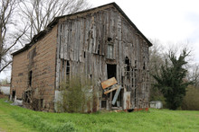 Large Falling Apart Old Farm Barn Rundown Abandoned