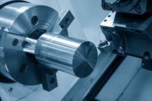 The CNC Lathe Machine Rough Cu...