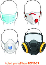Illustration Of Face Masks And...