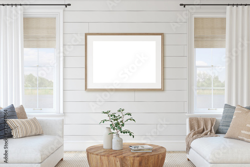 Photographie Modern living-room interior. 3d render.