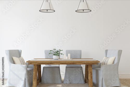 Fototapeta Modern dining-room. 3d render. obraz