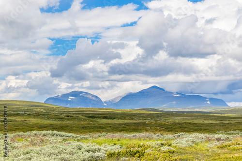 Slika na platnu Mountain in the wilderness moor landscape