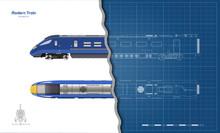 Isolated Blueprint Of Blue Mod...