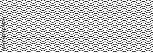 Foto Wavy seamless pattern background. Vector illustration