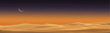 Desert Landscape With Sand Dun...