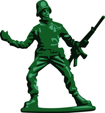 Toy Soldier Realistic Vector Illustration