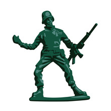 Toy Soldier Realistic Vector I...