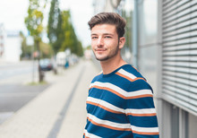 Portrait Of Young Casual Friendly Man, Selective Focus