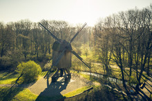 Arial View Old Windmill