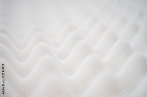 White gradient abstract background with many waves at different angles Canvas Print