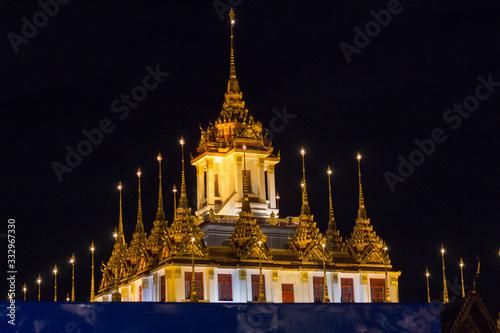 templo Loha Prasat de Bangkok Canvas Print