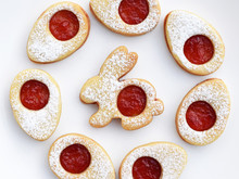 Linzer Cookies In Easter Shape...