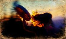 Beautiful Shamanic Girl Playin...
