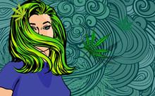 Pretty Woman Hair Style, Vecto...