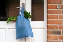 Blue Shopping Bag With Fresh V...