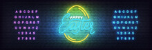 Easter Neon Template. Glowing ...