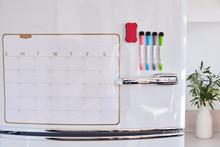 Erasable Monthly Planning Calendar On Refrigerator
