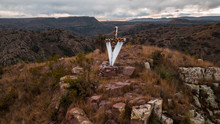 Cross On The Mountain Peak In Mexico