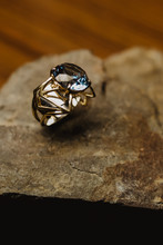 Beautiful Ring With Blue Gem