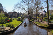 Canal In Giethoorn Holland