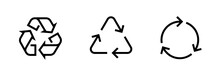 Set Of Recycle Sign Icons. Edi...