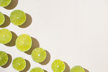 Lime Slices. Top View.