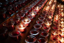 Red And Yellow Candles In The ...