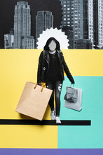 Woman With Shopping In The City