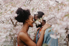 A Beautiful Engaged African Am...
