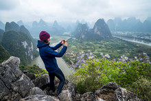 Traveller Woman Taking Pictures