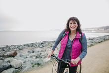 Portrait Of Mature Cyclist Wom...