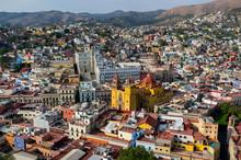 Skyline Of Guanajuato In Mexico