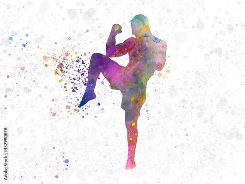 Plakat Zawodnik taekwondo