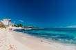 Tulum beach in Mexico surrounded by Mayan temples