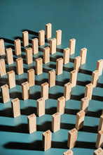 Wooden Blocks -different Type Of Wood.