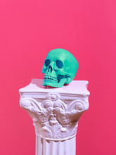 Skull On A Pink Background