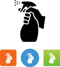 Hand Holding Disinfectant Spra...