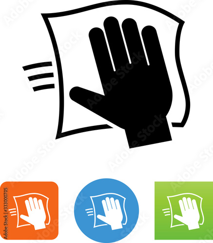 Papel de parede Hand Cleaning With Disinfecting Wipe Icon