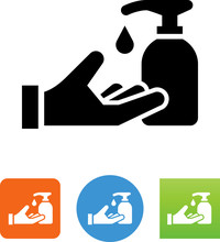 Hand With Soap Dispenser Icon