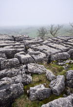 Natural Limestone Formations At Malham Cove. North Yorkshire, UK