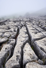 Natural Limestone Formations At Malham Cove. North Yorkshire, UK
