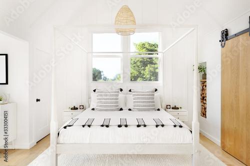 Beautifully designed modern farmhouse bedroom - 333004151