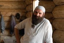 Smiling Bearded Handyman In Ru...