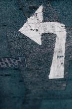 Inverted Painted Turn Symbol