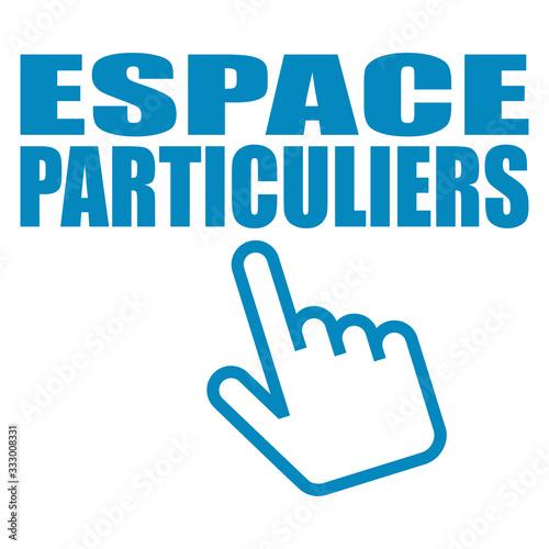 Fotografie, Obraz Logo espace particuliers.