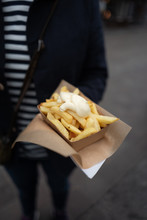 Frites With Mayonaise In Brugge