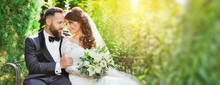 Beautiful Bride And Groom In T...