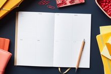 Blank Page Of Weekly Planner